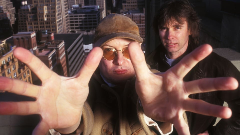XTC's Andy Partridge and Colin Moulding courtesy of Getty Images