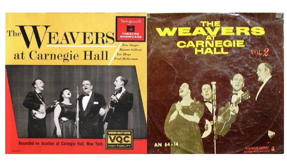 The Weavers at Carnegie Hall LPs (Fair Use)