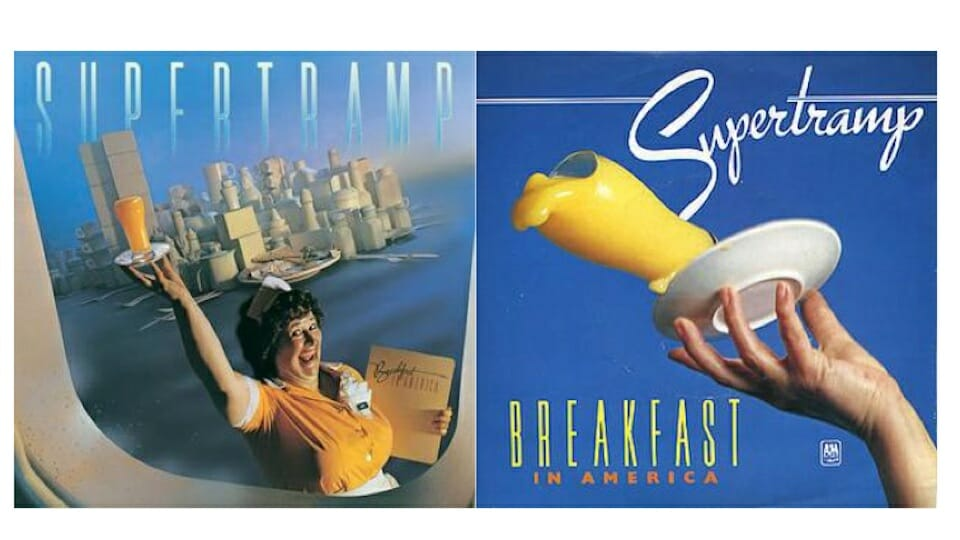 "Album and song covers for ""Breakfast in America"""