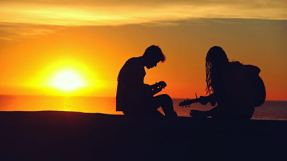 Musicians at Sunset