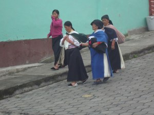 Locals at the Otavalo Indigenous Market