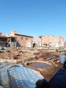 tanneries in Marrakesh