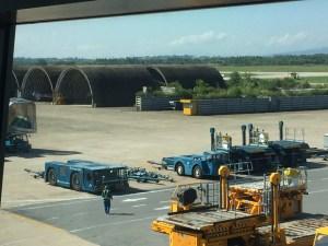 airplane hangars at the Da Nang Airport