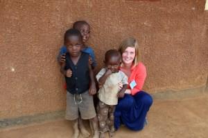 jess and kids in uganda