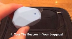 traveltag luggage and beacon