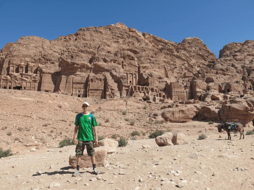 Jonny Blair at Petra in Jordan