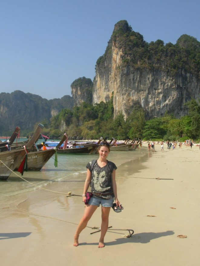 When backpacking on Railay Beach, Thailand