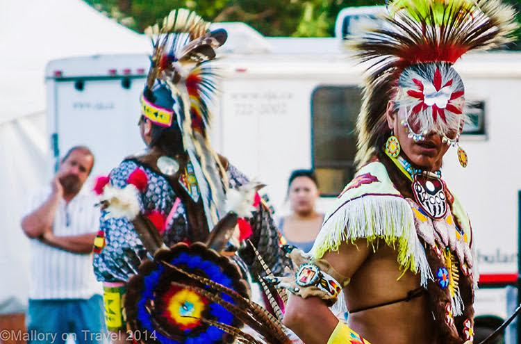 Male performers for the chicken dance at the First Nations Aboriginal Summer Solstice Festival