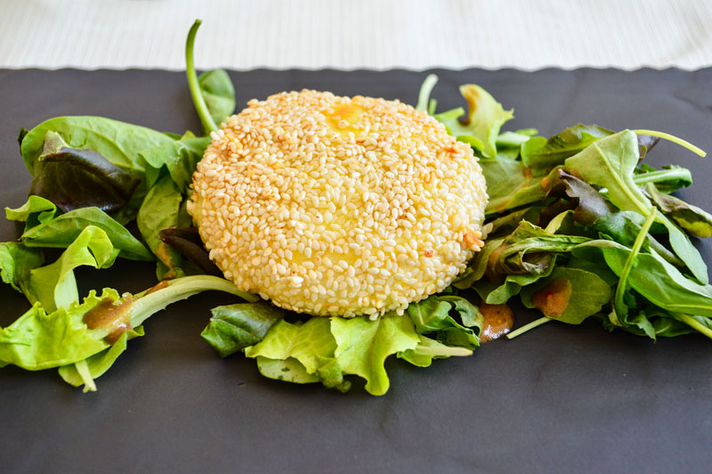 themed travel: sesame-crusted cheese