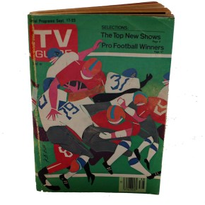 For TV Guide, Romare Bearden Interprets the New NFL Season