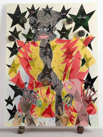 Chris Ofili_The Adoration of Captain Shit and the Legend of the Black Stars_3rd Version_1999