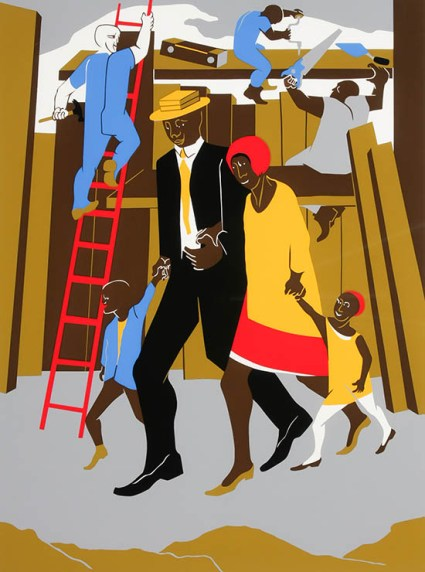431813 Jacob Lawrence - The Builders - 1974