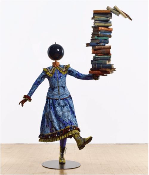 yinkashonibare girl balancing knowledge