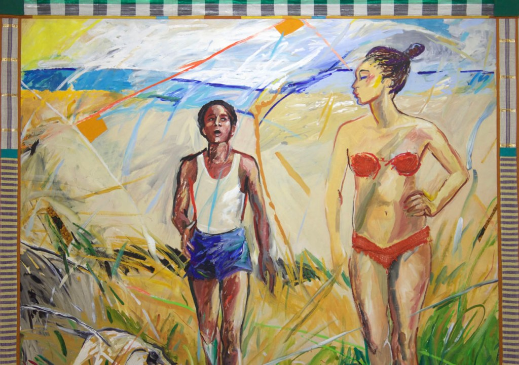 EMMA AMOS Detail Why We Left the Beach 1987 Photo by Victoria L. Valentine