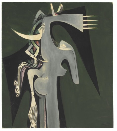 wilfred-lam-horse-headed-woman-1950