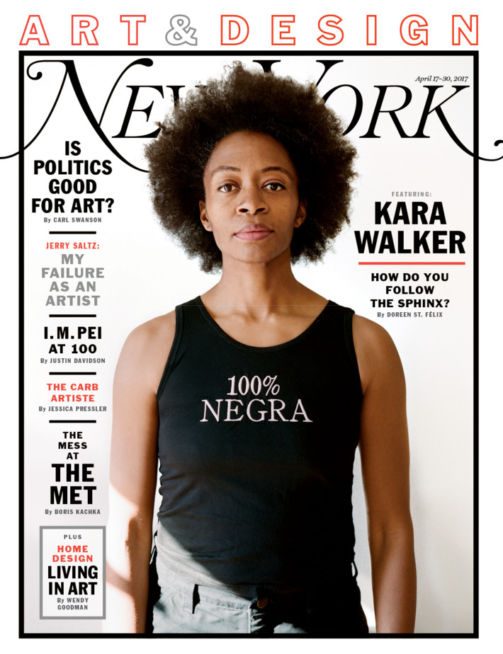 kara walker covers new york magazine s special art new design magazine anthology design sponge