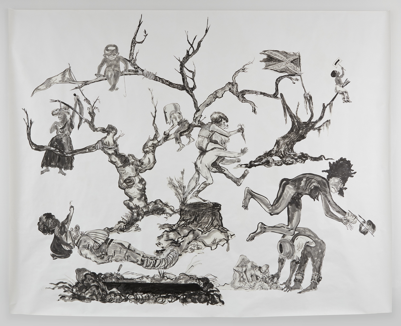 harvard art museums acquire large scale drawing by kara walker from recent fall show at sikkema jenkins gallery