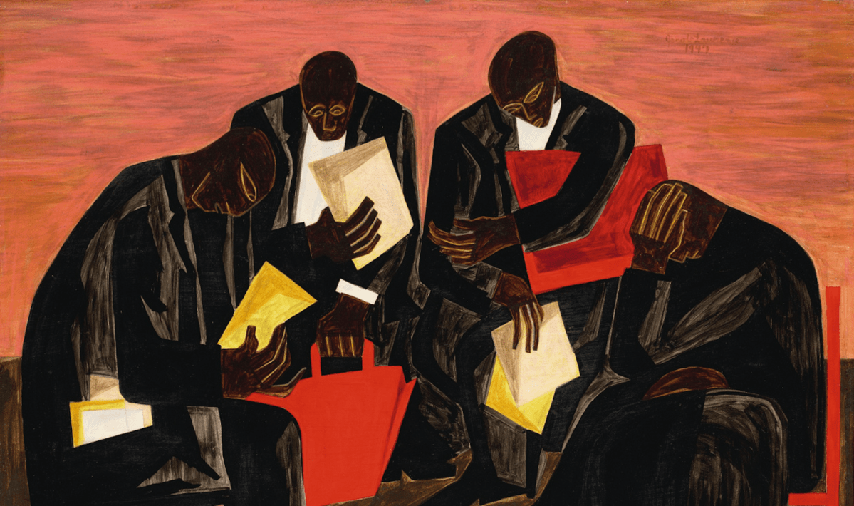 Crushing Decade-Old Auction Record, 'The Businessmen' by Jacob Lawrence Soars to $6.1 Million, Placing Him Among the Most Expensive African American Artists