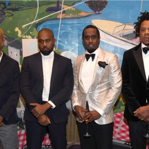 Kerry James Marshall's 'Past Times' Painting Was Among Stars at Lavish 50th Birthday Party of Sean 'P. Diddy' Combs