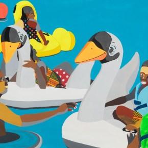 Floaters: Series of Leisurely Pool Images by Derrick Adams is About Black Radical Joy