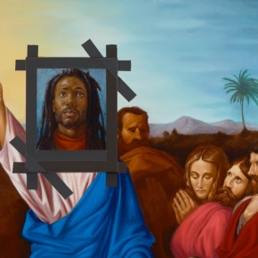 Titus Kaphar Explored Renaissance Christian Imagery and Presented a Black Jesus Painting in a Deconsecrated Church in Brussels