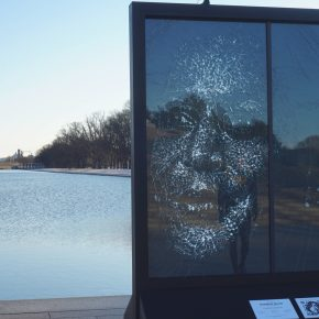 Ceiling Breaker, History Maker: Glass Portrait of Vice President Kamala Harris Unveiled at Lincoln Memorial