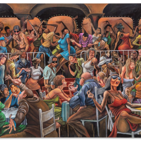 Auction Record: 3 Ernie Barnes Paintings Exceed $100K for First Time, Plus Bob Thompson and 'White Male For Sale'