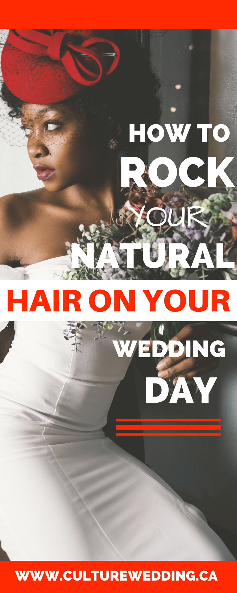 How to rock your natural hair on your wedding day