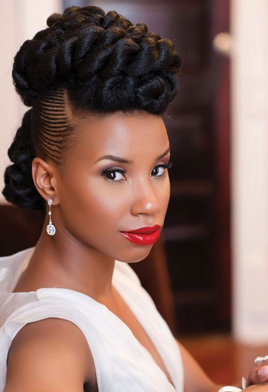 How to Rock Natural Hair for your wedding day and look on ...