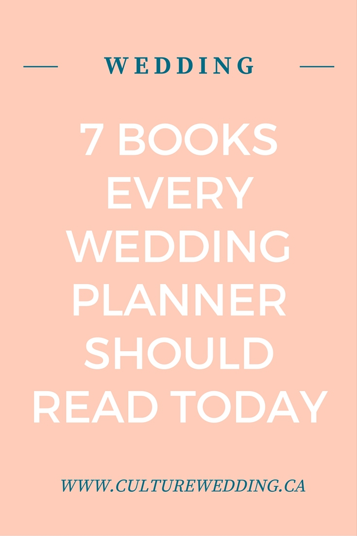 7 books for every wedding planner culture weddings pr firm 7 books every wedding planner should read junglespirit Image collections