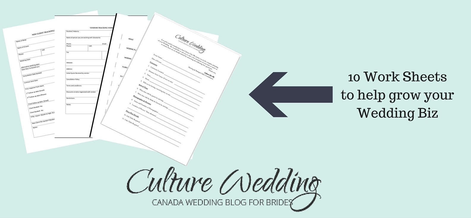 wedding planner work sheets