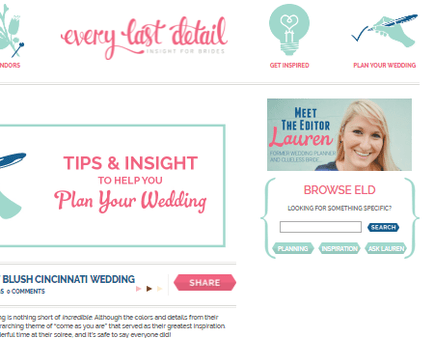 The Every last detail wedding blogs