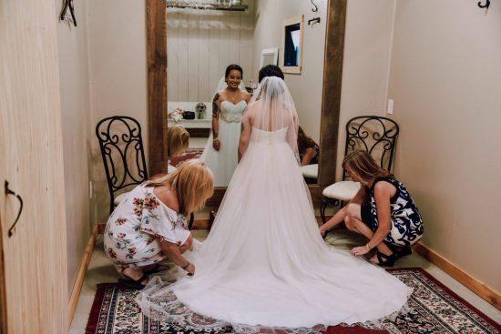 Chic elegant wedding dress