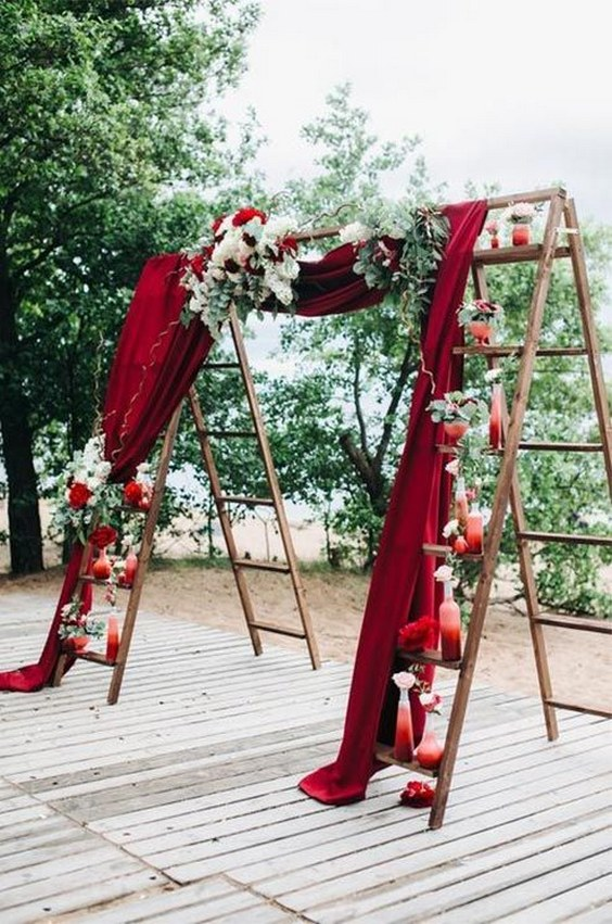 weddind decor. Fall outdoor wedding.