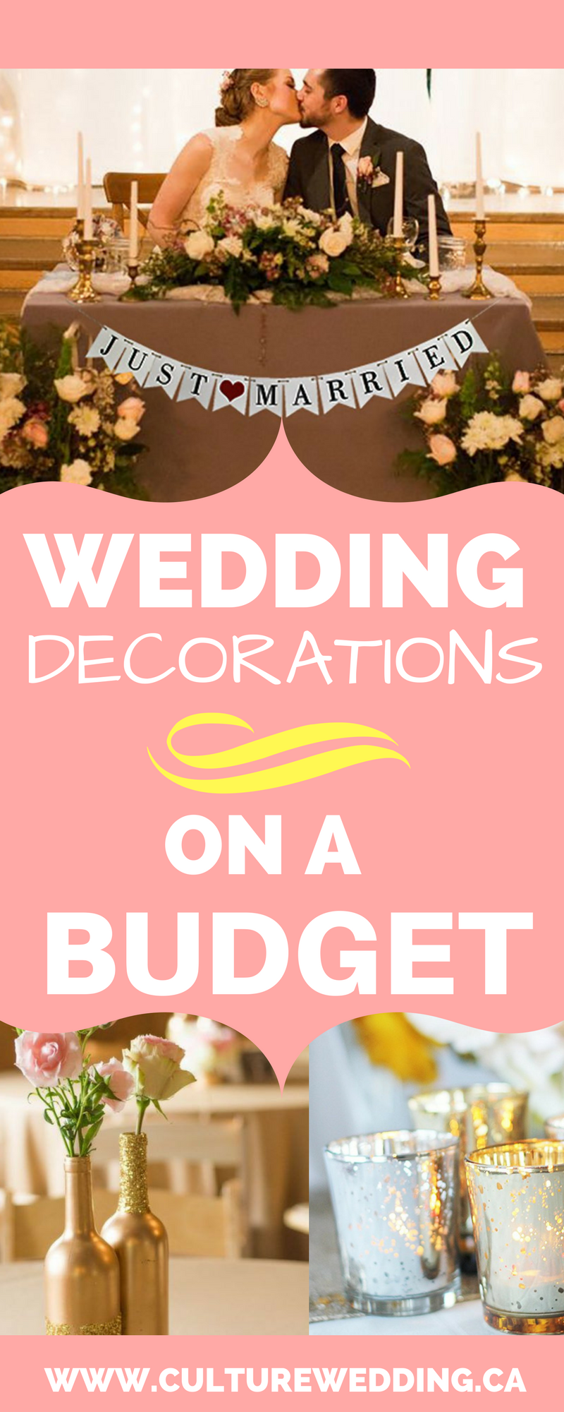 How to get wedding decorations on a budget get them now for Inexpensive wedding decorations