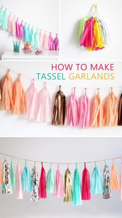 DIY Tassel Garland Wedding ideas. diy wedding decor. DIY Wedding decoration from the dollar store. Affordable wedding decoration ideas. Dollar Store Home Decor DIY! How to plan a wedding on a budget. Brides on a budget. How to decorate on a frugal budget. #weddingdecor #budgetwedding how to save money on a wedding.