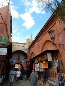 winding streets in Marrakesh