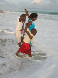 friendships in Ghana and at the beach with kids