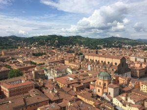 rain travels in bologna, italy