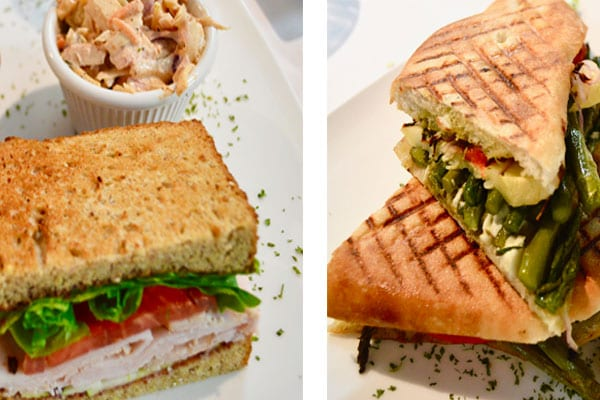 sandwiches at hotel in St. Augustine, Florida