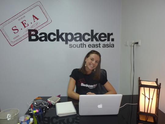 Nikki at her office in Thailand
