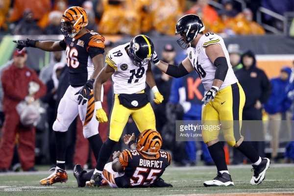 Block, Steelers and Bengals, Smith-Shuster, Burfict