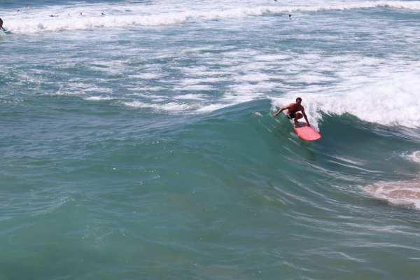 Yuujou finalist, Jed, takes Yvonne surfing in Durban, South Africa.