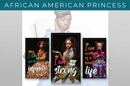 AFRICAN AMERICAN PRINCESS WEB BUTTON