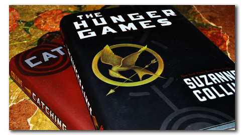 """Photo of the Hunger Games and Catching Fire hardbacks. """"The hunger games by suzanne collins free giveaway""""byGoodNCrazyis licensed underCC BY 2.0"""