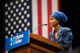 Picture of Ilhan Omar speaking