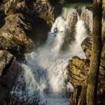 Professional Kayaker--Immersion Research Brand Ambassador--Jaime Lancaster 100 foot kayak descent Santiago, Chile