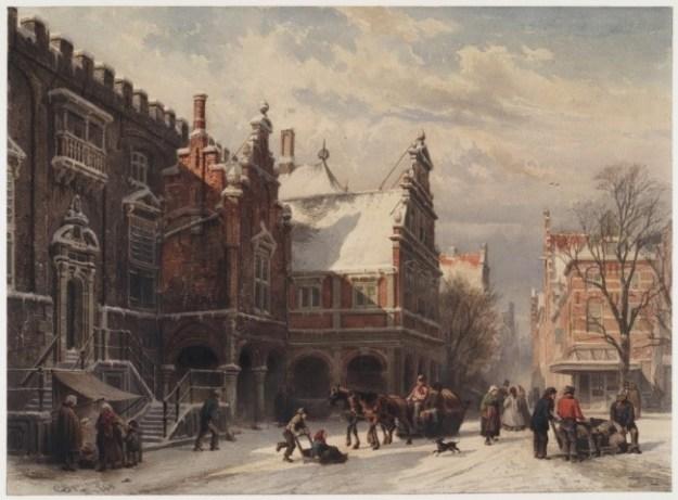 Cornelis Springer, stadhuis van Haarlem