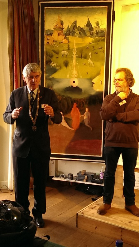 schilder Henk Groenenendaal en provoost Zwanenbroedershuis
