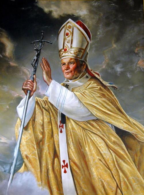 Rome : school van Lateranen, paus Johannes Paulus II